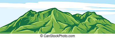 berg, abbildung, landschaftsbild