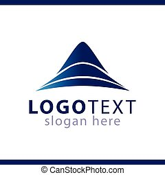 berg, abstract, vector, mal, logo