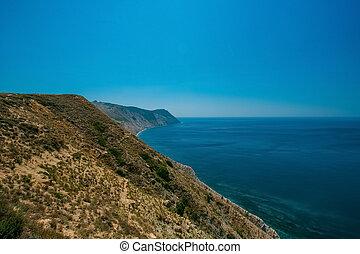 berg, anapa, natuur, reizen, vakantie, zee, rusland