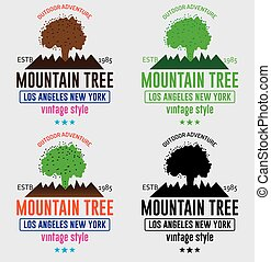 berg, boompje, logo