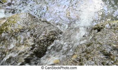 berg, bron, van, water