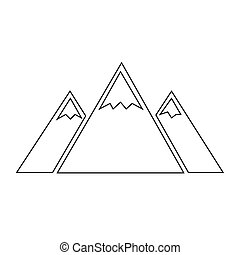 berg, design, abbildung, ikone