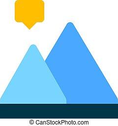 berg, diagramm