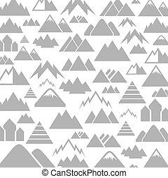 berg, een, achtergrond