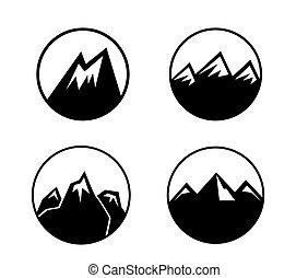 berg, emblems, set
