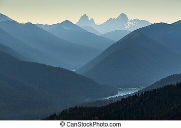 berg, erhöht, landschaftsbild, ansicht