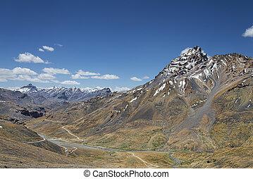 berg, erstaunlich, spitze, ansicht