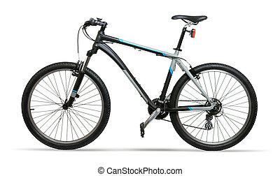 mountain bike fahrrad berg fahrrad freigestellt fahrrad hintergrund wei es. Black Bedroom Furniture Sets. Home Design Ideas