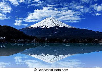 berg, fuji, japan