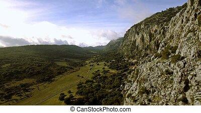 berg,  grazalema, flug,  parque,  de, Luftaufnahmen, Andalusien, Bereich,  4k,  Sierra, natürlich, entlang, Spanien