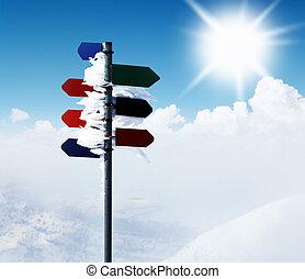 berg, guidepost