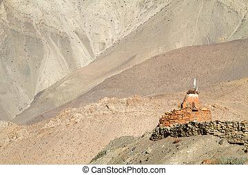 berg, heiligdom, nepal