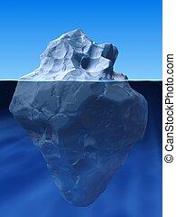 berg, hielo