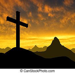berg, kruis