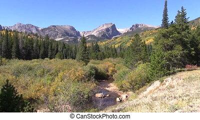 berg landschap, in, herfst