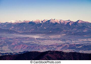 berg, landschap, verbreidingsgebied, slowakije, herfst, aanzicht