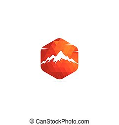 berg, logo, mal, illustrator, vector