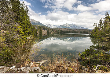 berg meer, in, slowakije, tatra