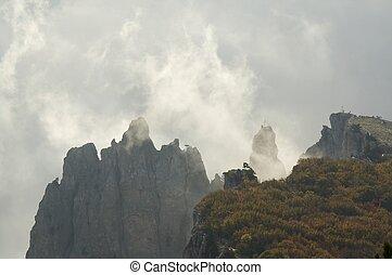 berg, mist