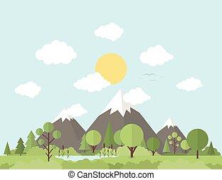 berg, natur