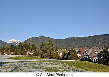 berg, natuur, sneeuw, aanzicht