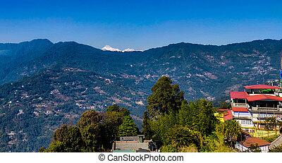 berg, nepal, aanzicht