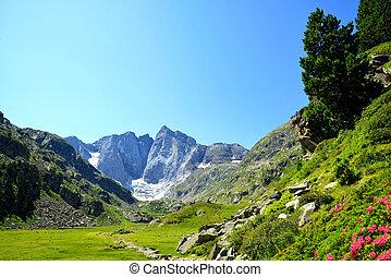 berg, park, pyrenees., vignemale, landschaftsbild, national,...