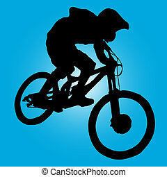 berg radfahrer