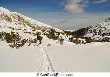 berg, roemenië, retezat, winter