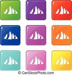 berg, set, negen