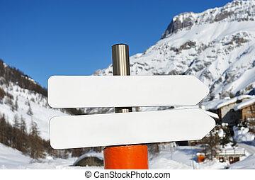 berg, skitoevlucht
