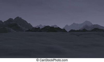 berg, Sonnenaufgang