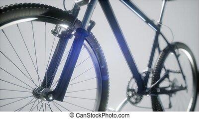 berg, sport, fahrrad, in, studio