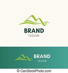 berg, stroom, logo