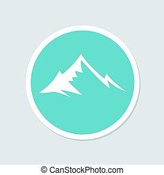 berg, symbool, ontwerp
