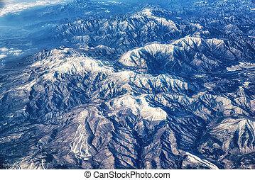 berg, tateyama, hoogte, verbreidingsgebied, hoog, gezien