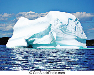 berg, terre-neuve, glace