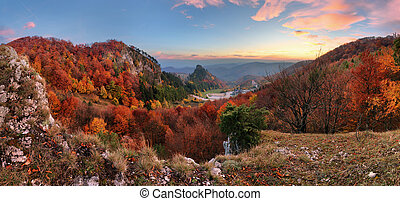 berg, vrsatec, bunte, herbst wald, slowakei, landschaftsbild