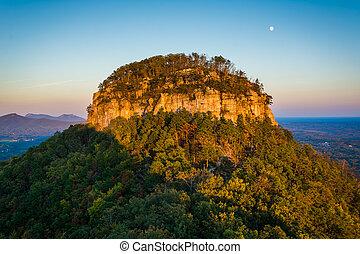 berg, weinig; niet zo(veel), pinnacle, groot, overzien,...