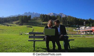 berg, werken, zakenlui