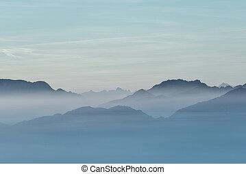 berg, zee