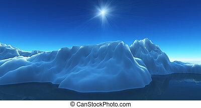 berg, zien, ijs