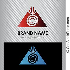 berg, zon, logo