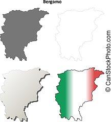 Bergamo blank detailed outline map set - Bergamo blank...