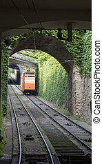 bergamo, funicular, italia, ferrocarriles