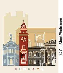 Bergamo skyline poster