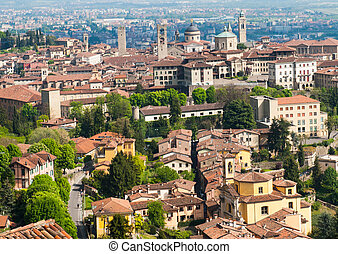 Bergamo - View at Old Town - Citta Alta - of Bergamo,...