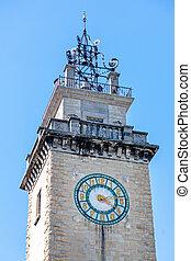 bergamo, torre, reloj