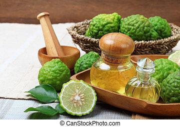 bergamot with aromatic spa essential oil