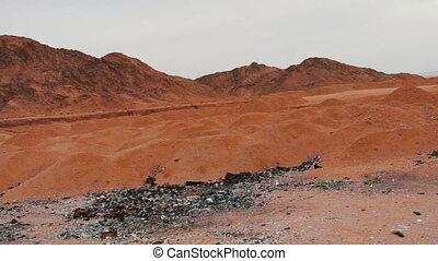 berge, landschaftsbild, sinai, rote wüste